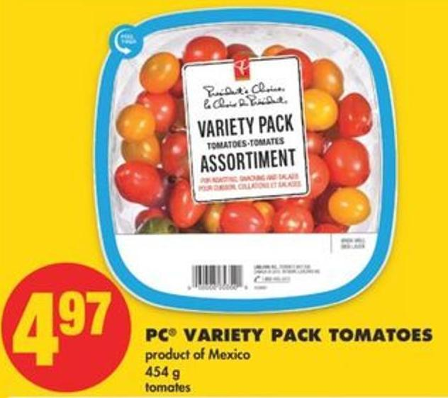 PC Variety Pack Tomatoes - 454 g