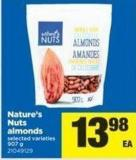 Nature's Nuts Almonds - 907 g