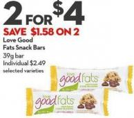 Love Good Fats  Snack Bars 39g Bar