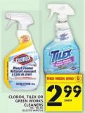 Clorox - Tilex Or Green Works Cleaners 709 - 950 mL