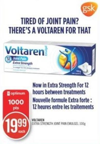 Voltaren Extra Strength Joint Pain Emulgel 100 g