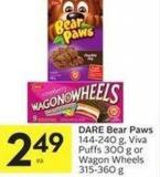 Dare Bear Paws 144-240 g - Viva Puffs 300 g or Wagon Wheels 315-360 g