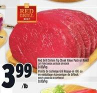 Red Grill Sirloin Tip Steak Value Pack Or Roast
