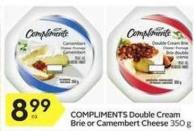 Compliments Double Cream 350 g