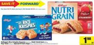 Kellogg's Rice Krispies Squares - 160/176 g - Nutri-grain Bars - 295 g - Pop Tarts - 400 g Or Special K Fruit Crisps - 125 g