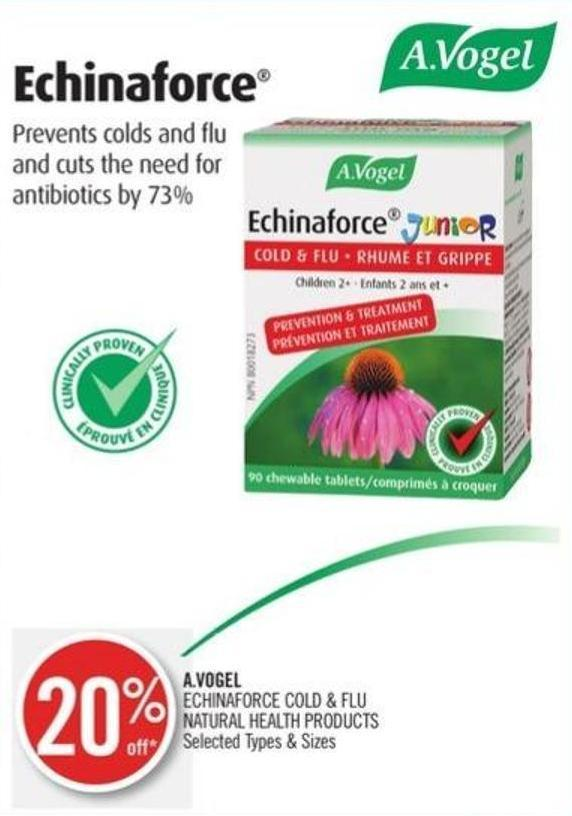 A.vogel Echinaforce Cold & Flu Natural Health Products