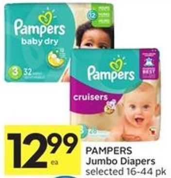Pampers Jumbo Diapers Selected 16-44 Pk