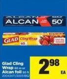 Glad Cling Wrap - 60 M - or Alcan Foil - 50 Ft