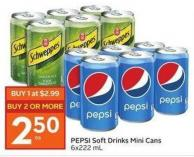 Pepsi Soft Drinks Mini Cans