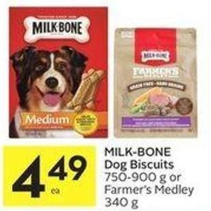 Milk-bone Dog Biscuits 750-900 g or Farmer's Medley 340 g