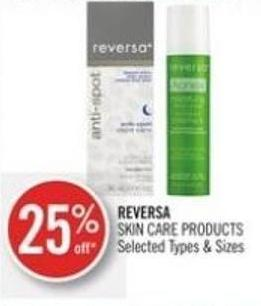 Reversa Reversa Skin Care Products