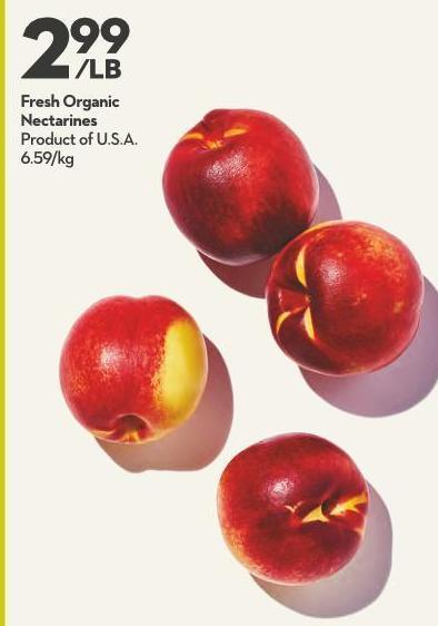 Fresh Organic Nectarines Product of U.S.A.