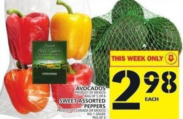 Avocados Or Sweet Assorted Peppers