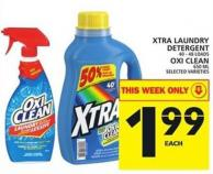 Xtra Laundry Detergent Or Oxi Clean