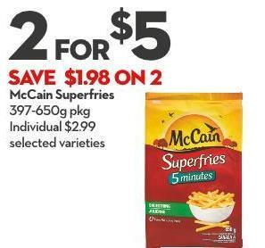 Mccain Superfries 397-650g Pkg