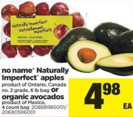 No Name Naturally Imperfect Apples - 6 Lb Bag Or Organic Avocados 4 Count Bag