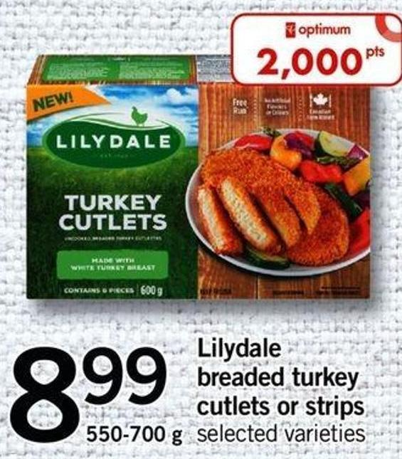 Lilydale Breaded Turkey Cutlets Or Strips - 550-700 G