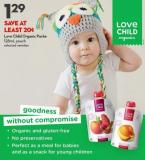 Love Child Organic Purée 128ml Pouch