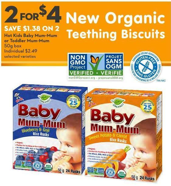 Hot Kids Baby Mum-mum or Toddler Mum-mum 50g Box