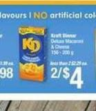 Kraft Dinner Deluxe Macaroni & Cheese - 156 - 200 G