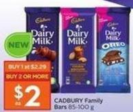 Cadbury Family Bars 85-100 g