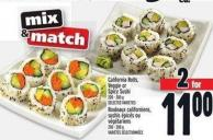 California Rolls - Veggie Or Spicy Sushi 200 - 300 g