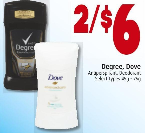 Degree - Dove Antiperspirant - Deodorant