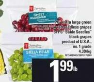 PC Extra Large Green Or Red Seedless Grapes Or PC Sable Seedles Black Grapes