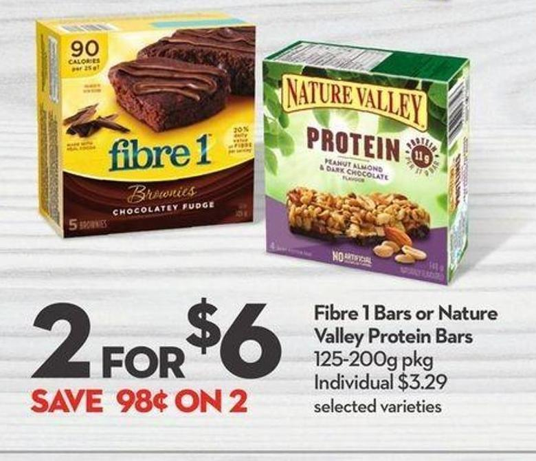General Mills Fibre 1 Bars or Nature Valley Protein Bars