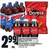 Coca-cola Or Pepsi Soft Drinks Or Ruffles Or Doritos Chips