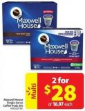 Maxwell House Single-serve Coffee Pads 30s