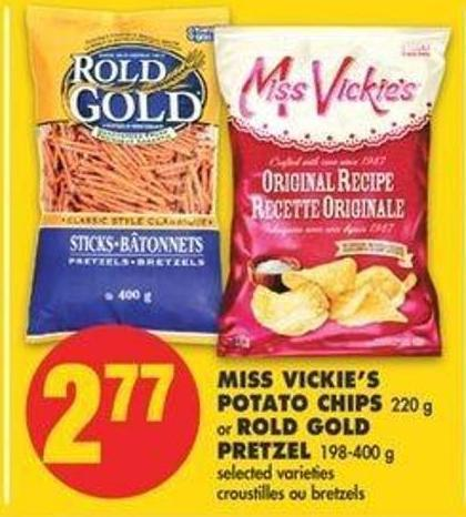 Miss Vickie's Potato Chips - 220 G Or Rold Gold Pretzel - 198-400 G