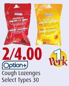 Option+ Cough Lozenges Select Types 30