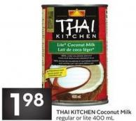 Thai Kitchen Coconut Milk Regular or Lite 400 mL