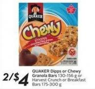 Quaker Dipps or Chewy Granola Bars