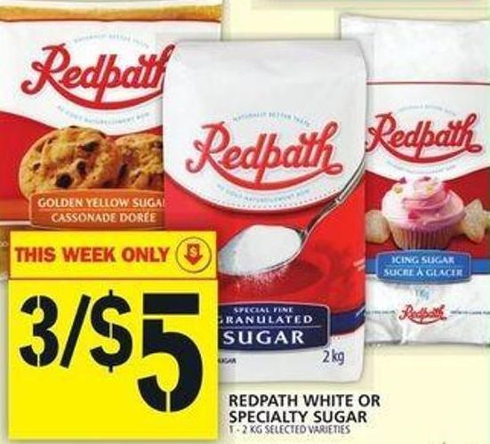 Redpath White Or Specialty Sugar