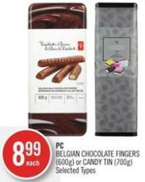 PC Belgian Chocolate Fingers (600g) or Candy Tin (700g)