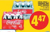 Coca-cola or Canada Dry Soft Drinks - 8 X 300 mL