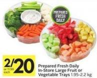 Prepared Fresh Daily In-store Large Fruit or Vegetable Trays 1.95-2.2 Kg