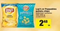 Lay's Or Poppables Potato Chips - 140-255 g