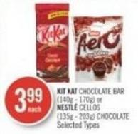 Kit Kat Chocolate Bar (140g - 170g) or Nestlé Cellos (135g - 203g) Chocolate