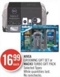 Nivea Grooming Gift Set or Mach3 Turbo Gift Pack