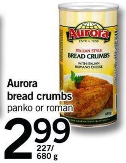Aurora Bread Crumbs - 227/680 G