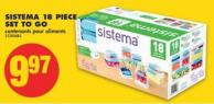 Sistema 18 Piece Set To Go