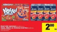 Kool-aid Jammers 10x180 Ml Or Oasis - Allen's Or Arizona Iced Tea 8x200 Ml