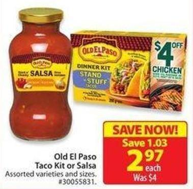Old El Paso Taco Kit or Salsa