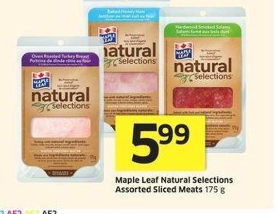 Maple Leaf Natural Selections Assorted Sliced Meats