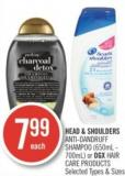 Head & Shoulders Anti-dandruff Shampoo (650ml - 700ml) or Ogx Hair Care Products