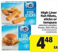 High Liner Fish Fillets - Sticks Or Tempura - 350-700 g