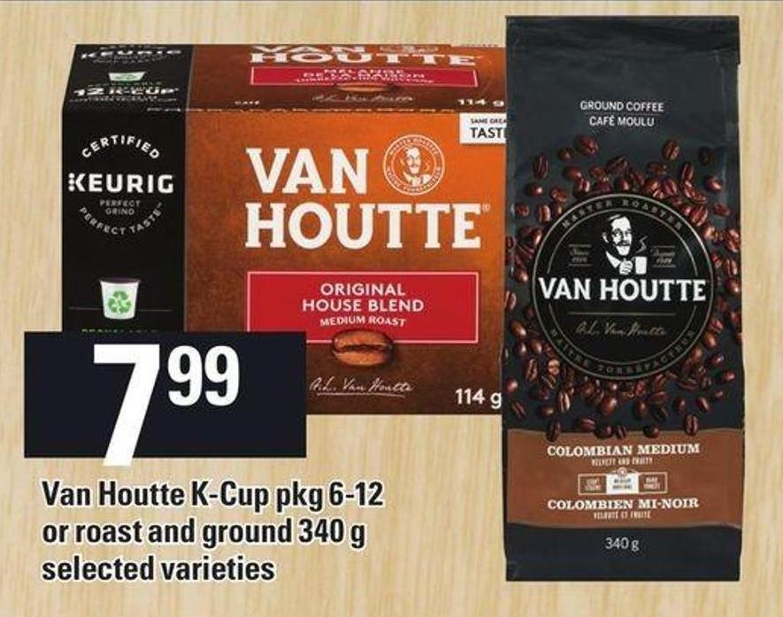 Van Houtte K-cup Pkg 6-12 Or Roast And Ground - 340 g
